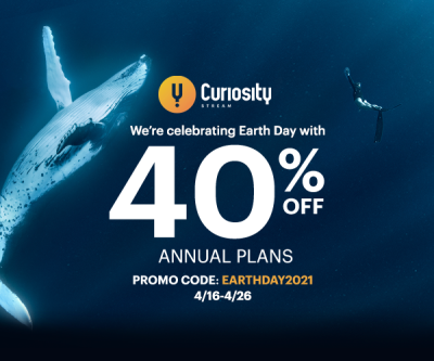 CuriosityStream Earth Day Sale: Get 40% Off On Annual Plans!