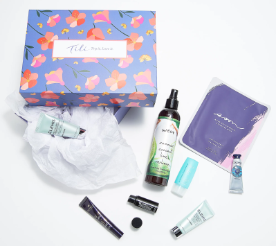 New QVC TILI Box Available Now – Spring Glow Beauty Sampling Box!