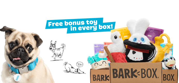 BarkBox Deal: FREE Toy in EVERY Box!