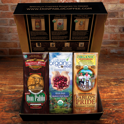 The Don Pablo Coffee Specialty Coffee Sampler Box Makes A Great Mother's Day Gift For Coffee Lovers!