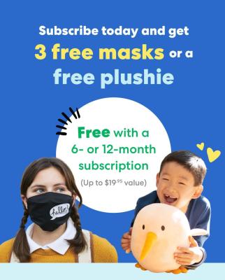 KiwiCo Flash Sale: FREE Plushie or Masks With Subscription!