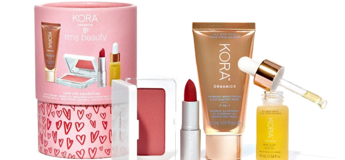 New Clean Beauty Collab Kit: The Love Life Collection From RMS Beauty x KORA Organics!