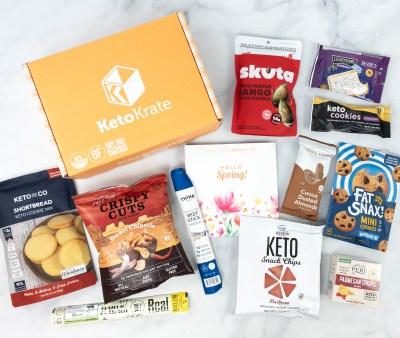 KetoKrate April 2021 Subscription Box Review + Coupon