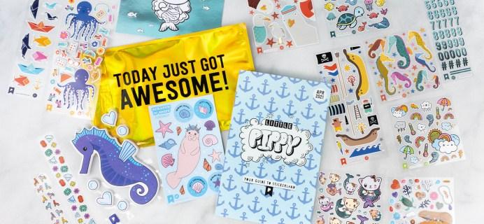 Pipsticks Kids Club Classic April 2021 Sticker Subscription Review + Coupon!