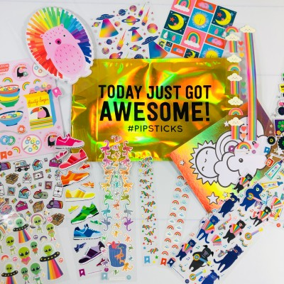 Pipsticks Kids Club Classic March 2021 Sticker Subscription Review + Coupon!