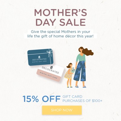 Give Mom a Gift to Personalize Your Home with Decocrated Gift Cards!