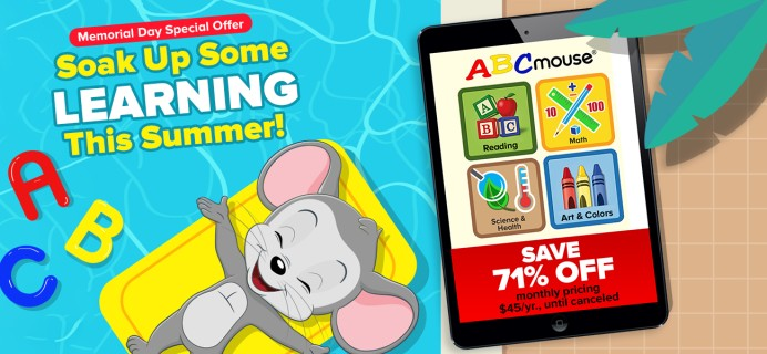 ABCmouse Memorial Day Sale: Get 1 Year of ABCmouse for $45 – 70% Off!