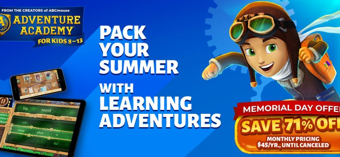 Adventure Academy Memorial Day Sale:  Get 1 Year of Adventure Academy for $45 – 70% Off!