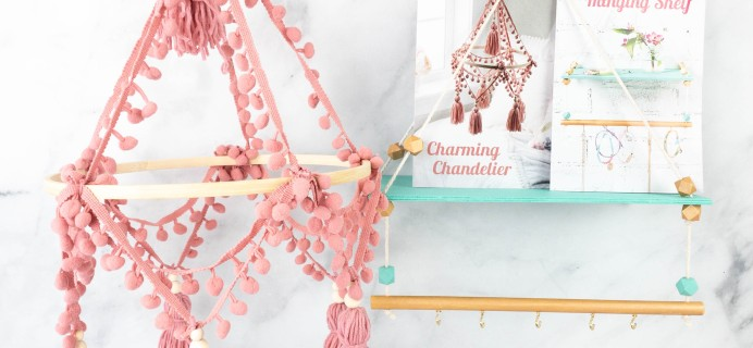 Annie's Creative Girls Club Review + 80% Off Coupon – Hanging Shelf & Chandelier