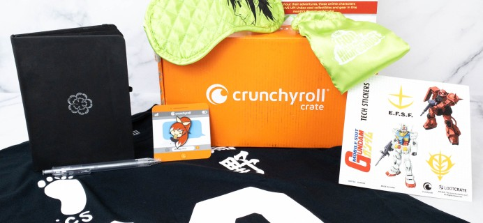 """Crunchyroll Crate """"NEVER GIVE UP"""" April 2021 Subscription Box Review"""