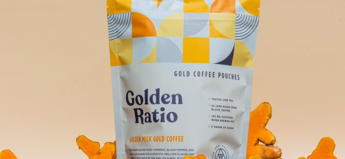 Golden Ratio Coffee Launches Golden Milk Gold Coffee: A Real Pot of Gold!