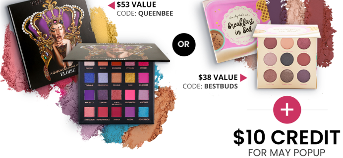 BOXYCHARM Coupon: FREE Palette + $10 Add-Ons Credit with May 2021 Box!