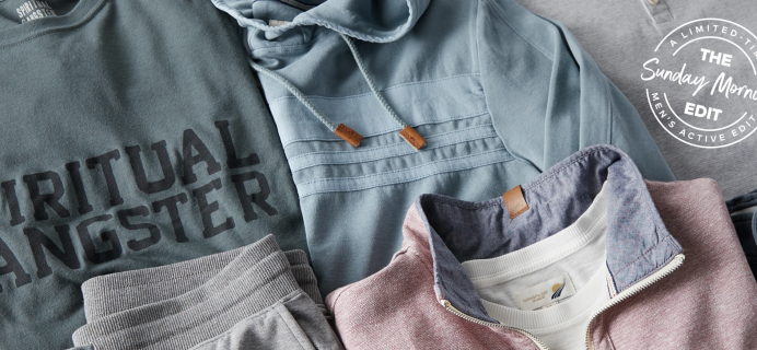Wantable Men's Active Sunday Morning Edit Is Here For The Most Laidback Sunday Morning!