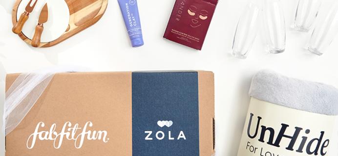 Bridal Season Starts Now: FabFitFun Launches FFF x Zola Wedding Box!
