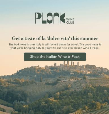 Plonk Wine Club Italian Wine Pack Brings You a Taste of La Dolce Vita + $10 Off Coupon!