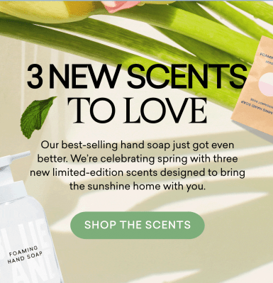 Blueland Launches 3 New Scents With The Garden Hand Soap Starter Set!