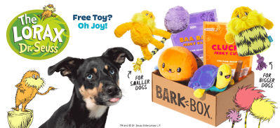 BarkBox Coupon: FREE Dr. Seuss The Lorax Toy With Subscription!