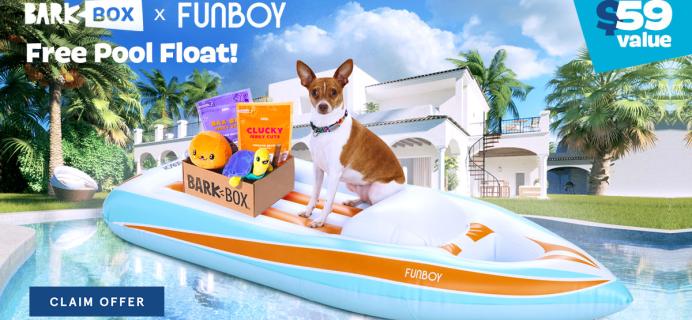 BarkBox Coupon: FREE Funboy Dog Float!