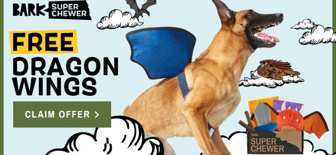 Super Chewer Deal: FREE Dragon Wings Wearable With First Box of Tough Toys for Dogs!