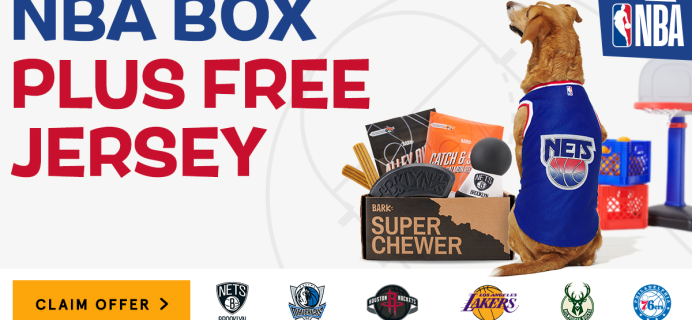 Super Chewer Deal: FREE Jersey Wearable + NBA Themed Box of Tough Toys for Dogs!