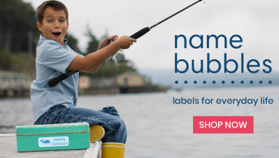 Make Sure Your Kids Belongings Return From Summer Camp Too: Name Bubbles Customized Name Labels for Kids!