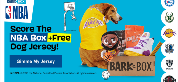 BarkBox Deal: FREE Jersey Wearable With Your First Box + NBA Themed Box!