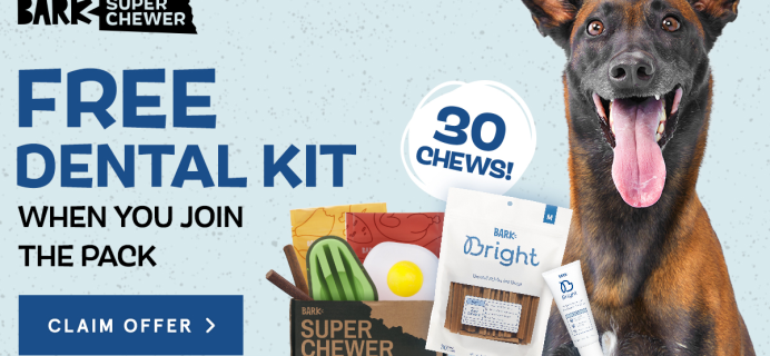 Super Chewer Deal: FREE Bark Bright Dental Kit With First Box of Tough Toys for Dogs!