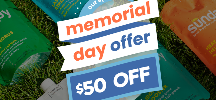 Sunday Memorial Day Sale: Get Up To $50 Off Lawn Care Subscription!