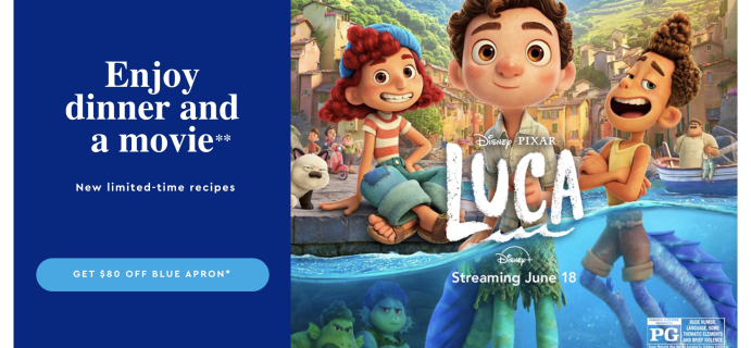 Blue Apron Sale: Save Up to $80 + Celebrate Disney and Pixar's New Movie, Luca!