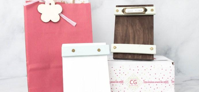 Lil Grace Box by Confetti Grace April 2021 Craft Subscription Box Review