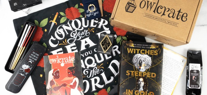 OwlCrate April 2021 Review + Coupon – RUTHLESS RIVALS!