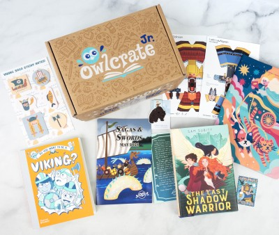 OwlCrate Jr. May 2021 Box Review & Coupon – SAGAS & SWORDS!