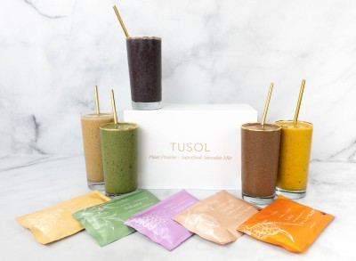 TUSOL Plant Protein + Superfood Smoothie Subscription Box Review + Coupon