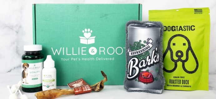 Willie & Roo Dog Subscription Box Review + Coupon – May 2021
