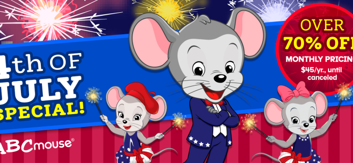 ABCmouse Fourth Of July Sale: Get 1 Year of ABCmouse for $45 – 70% Off!