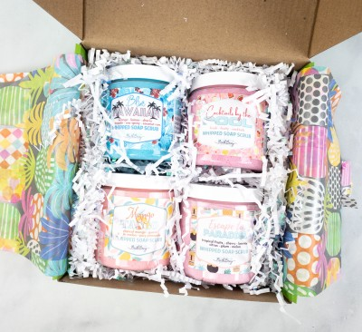 Bath Bevy Limited Edition Summer Scrubbin' Whipped Soap Scrubs Set: Get Clean, Moisturized, and Tropical This Summer!
