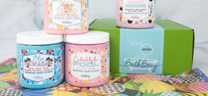 Bath Bevy Limited Edition Summer Scrubbin' Whipped Soap Scrubs Set Review + Coupon