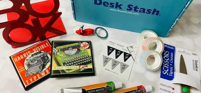 Desk Stash Spring 2021 Subscription Box Review + Coupon