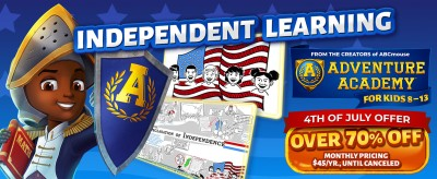Adventure Academy Fourth of July Sale:  Get 1 Year of Adventure Academy for $45 – 70% Off!