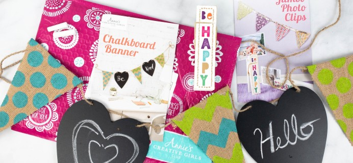 Annie's Creative Girls Club Review + 80% Off Coupon – Banner & Photo Clips