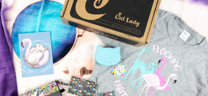 Cat Lady Box June 2021 Subscription Box Review – POOL PAWTY BOX!