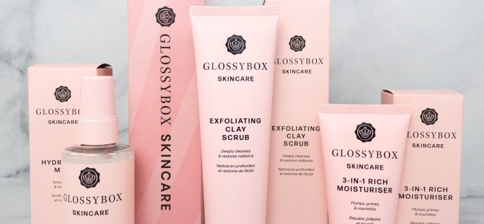 GLOSSYBOX Skincare Ready, Set, Glow Set Review + Coupon