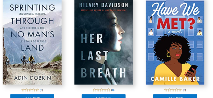 Amazon First ReadsJune 2021 Selections: 1 Book FREE for Amazon Prime Members