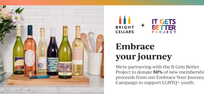 Bright Cellars June Giveback: It Gets Better Project + $50 Off Your First Box!