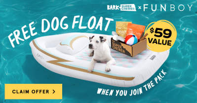 Super Chewer Deal: FREE Funboy Dog Float With First Box of Tough Toys for Dogs!