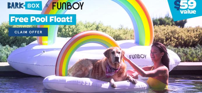 BarkBox Coupon: FREE Funboy Rainbow Dog Float!