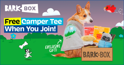 BarkBox Deal: FREE Camper Tee Wearable With Your First Box!