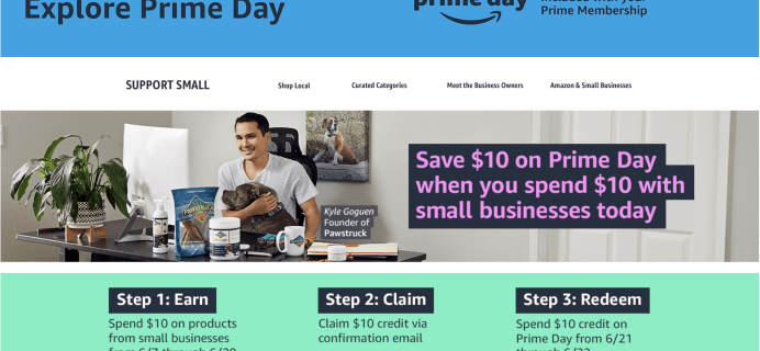 Amazon Prime Day 2021 Deal: Get $10 Credit with $10 Amazon Small Business Products Purchase!