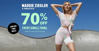 Fabletics Summer Sale: Get 70% Off First Purchase + New Maddie Ziegler Drop!