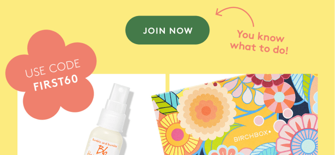 Birchbox Coupon: 60% Off First Box With 6-Month Subscription & More!